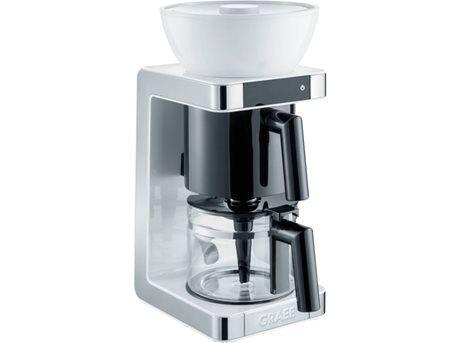 Graef Kaffemaskine GRFK701EU - 10 kopper - Rustfrit stål/Plastik - Hvid