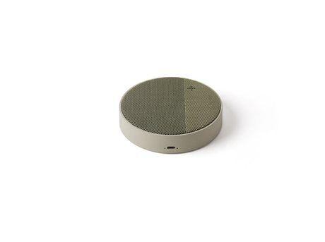 Lexon Oslo Trådløs Ladestation og Bluetooth Højtaler - Grå/Grøn