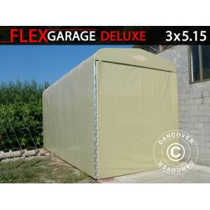 Dancover Foldetunnelgarage (Campingvogn), 3x5,15x3,6m, Beige