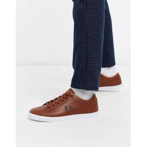 Fred Perry Brune sneakers i skind fra Fred Perry-Tan Tan