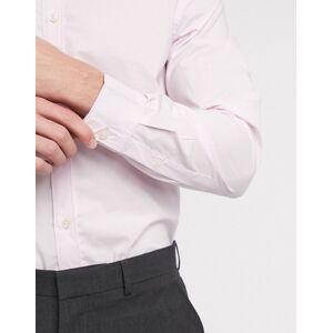 French Connection - Ensfarvet skjorte i skinny stræk pasform-Blå M