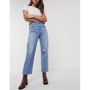 Levis Levi's - Ribcage- Straight leg ankle grazer-jeans iblå W29 L27