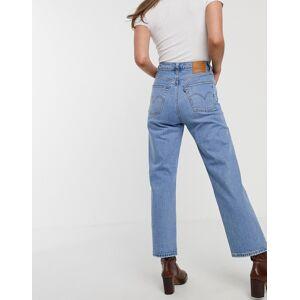 Levis Levi's - Ribcage- Straight leg ankle grazer-jeans iblå Tango fade