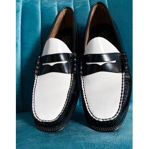 G.H. Bass & Co. - Easy Weejuns Larson - Penny loafers i hvid og sort-Multifarvet Multifarvet