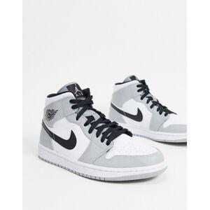 Jordan Nike Air Jordan 1 - Sneakers i grå/hvid Grå/hvid