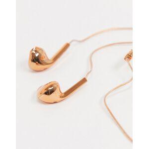 Happy Plugs – Rosaguld høretelefoner plus ørepropper-Ingen farve No Size