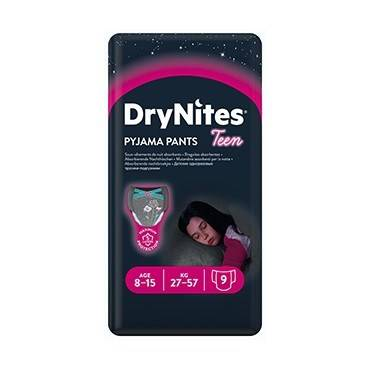 DryNites Pyjama Pants Girl 8-15 r 9 stk