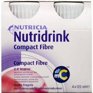Nutridrink Compact Fibre Jordbr 4 x 125 ml