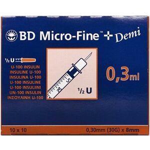 BD Micro-Fine+ 30enh 8mm Medicinsk udstyr 100 stk