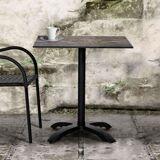 Cafebord Avila, laminat grå/brun træ