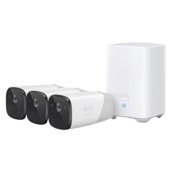 Eufy eufycam2 3+1kit overvågningssystem, Hvid
