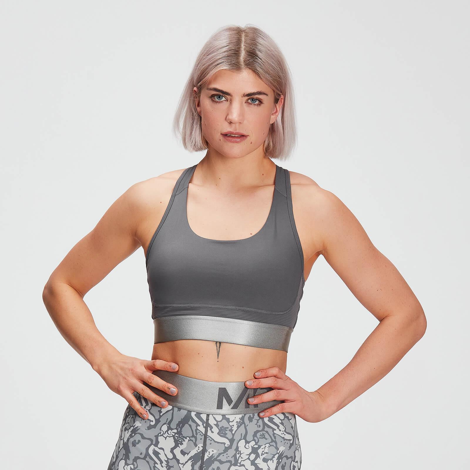 Mp Adapt Textured Sports Bra Til Kvinder - Carbon - S