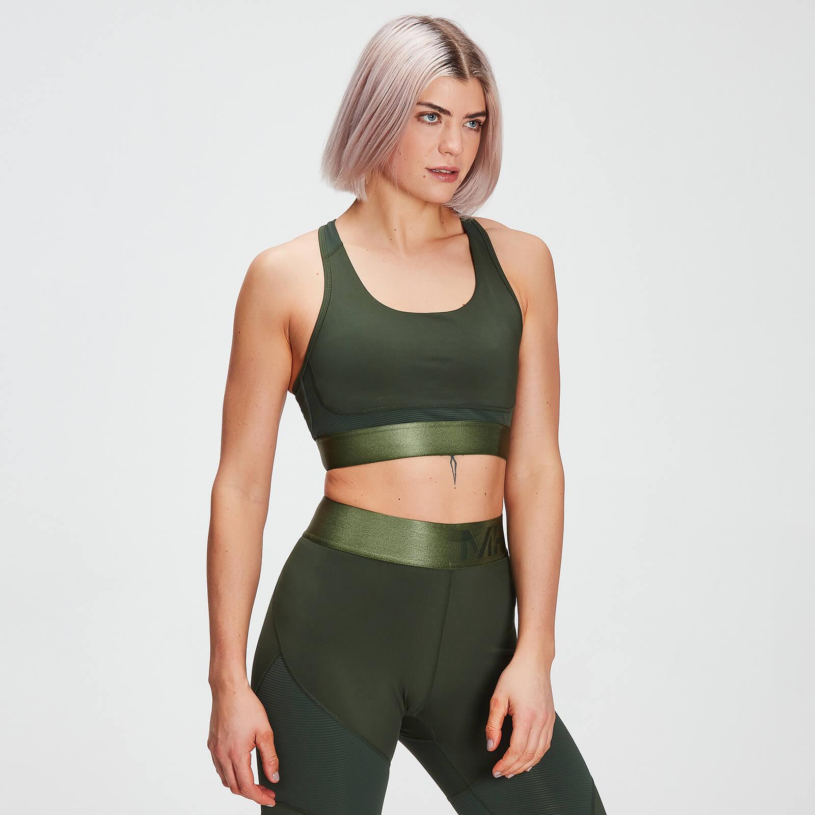 Mp Adapt Textured Sports Bra Til Kvinder - Mørkegrøn - Xs
