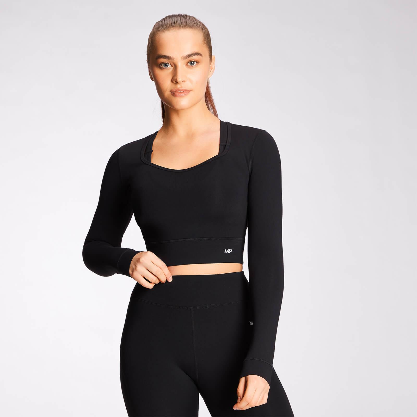 Mp Power Long Sleeve Top Til Kvinder - Sort - Xl