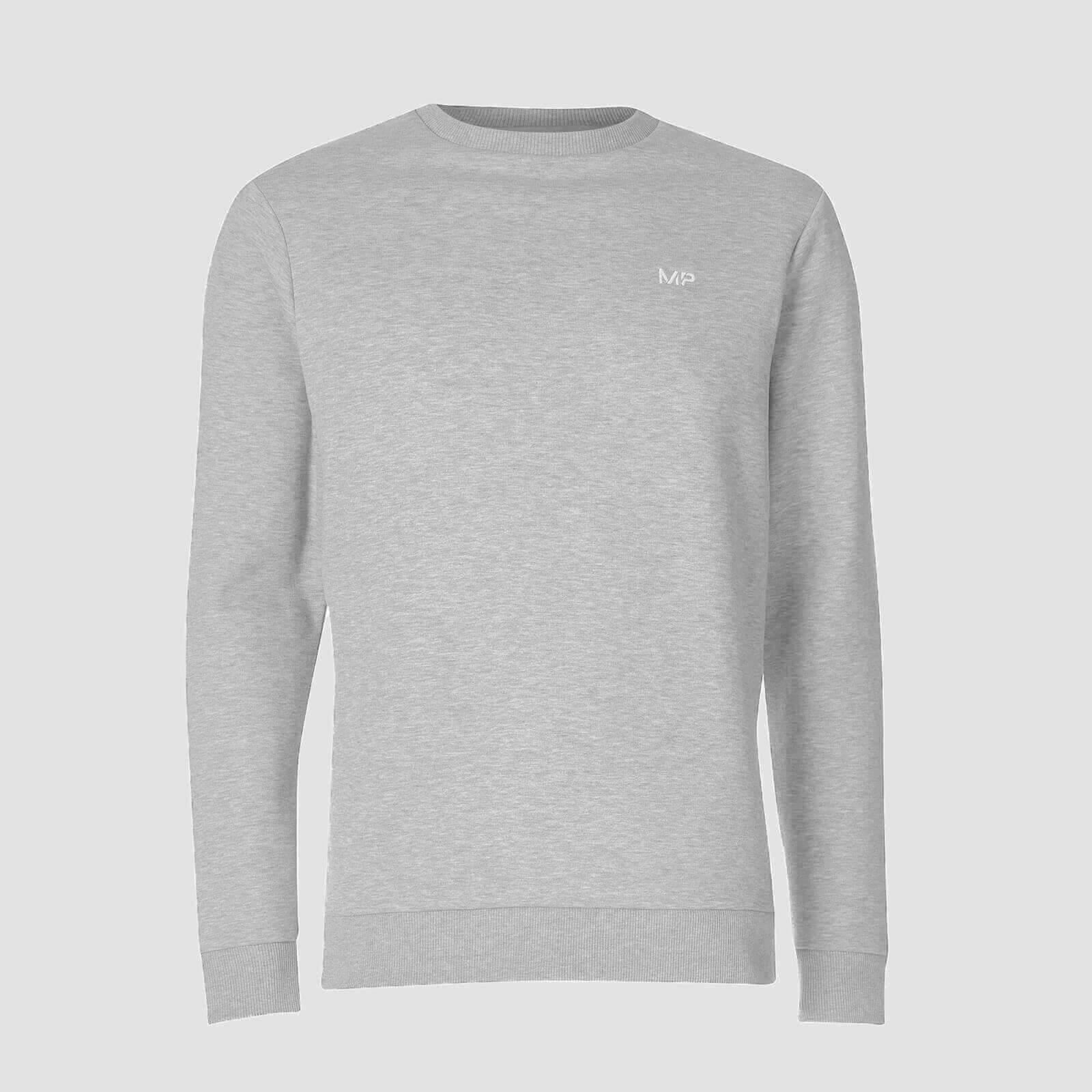Mp Essentials Sweater - Til Mænd - Grey Marl - Xs