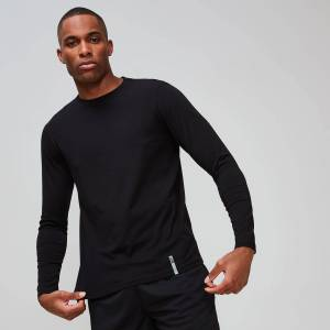 MP Luxe Classic Long-Sleeve Crew - Sort - L