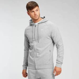 Myprotein MP Form Zip Up Hoodie - Til mænd - Grey Marl - L