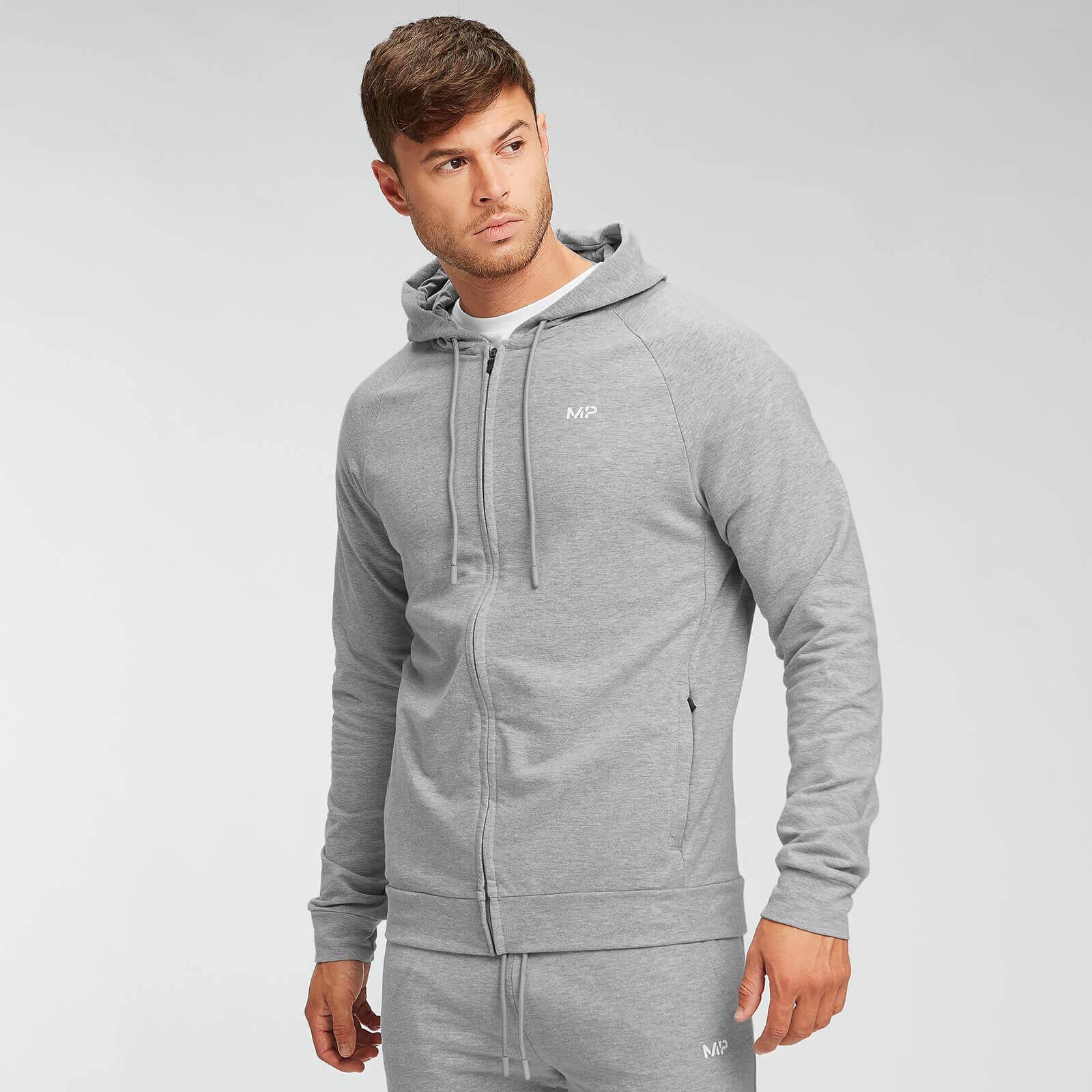 Mp Form Zip Up Hoodie - Til Mænd - Grey Marl - L