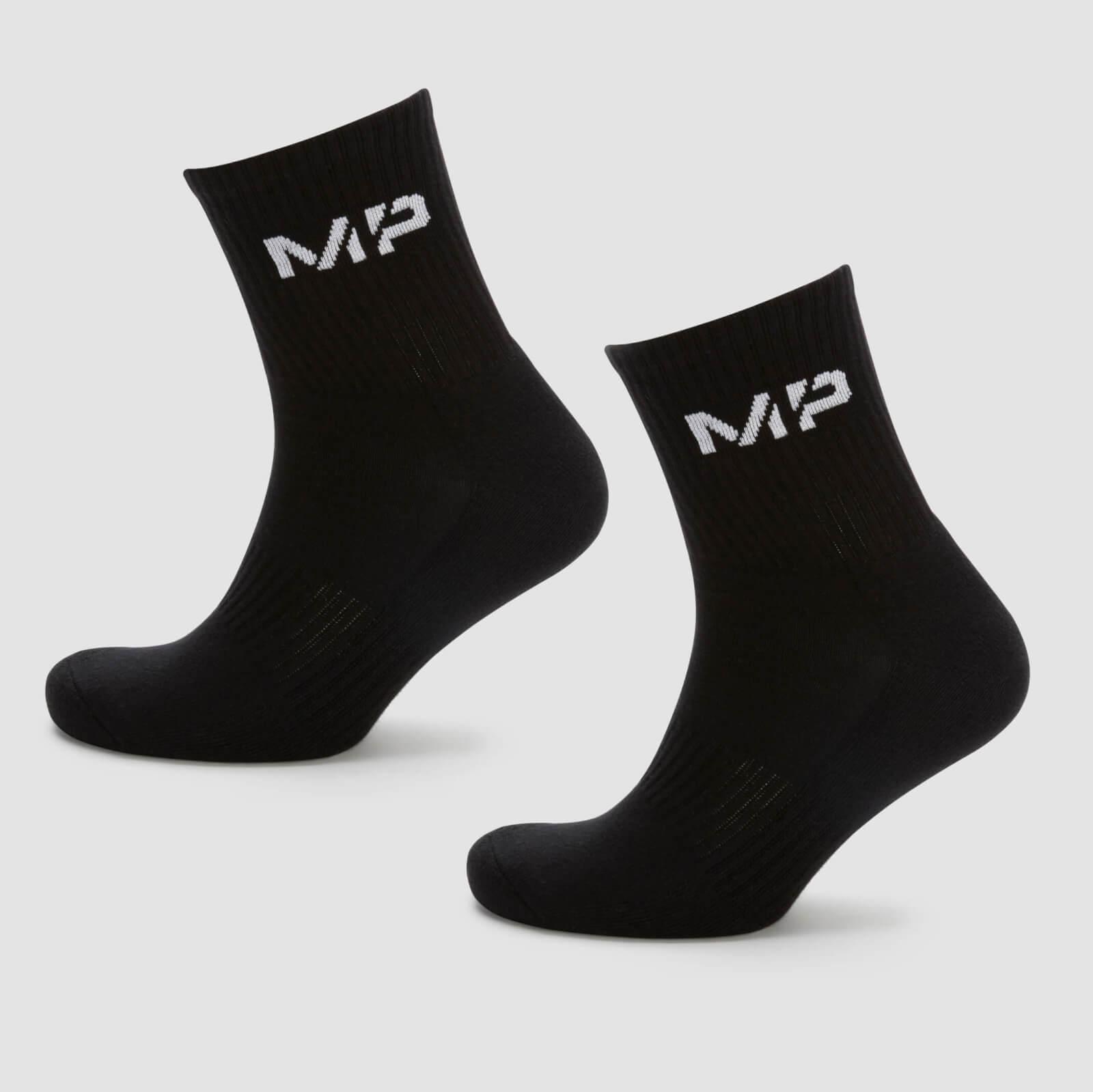MP Crew Sokker Til Mænd - Sort - Uk 9-12