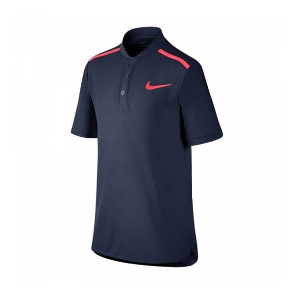 Nike Performance Polo Boy Navy Blue/Pink Size 128 128