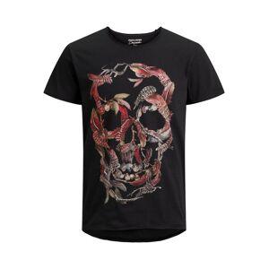 JACK & JONES Sukkerkranie-print T-shirt Mænd Sort
