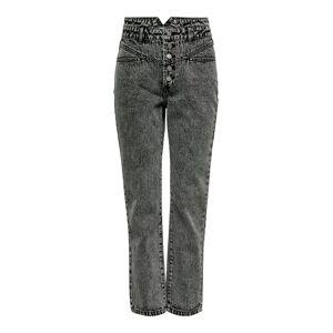 ONLY Onlturner Hw 80ties Ankle Straight Fit Jeans Kvinder Sort Female 31 Black