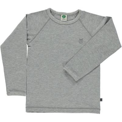 Småfolk - Økologisk Basis Langærmet T-Shirt - Lt. Grå Mix - Børnetøj - Småfolk