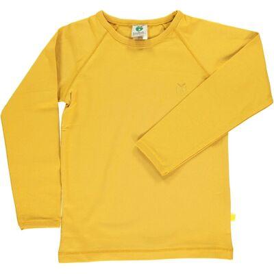 Småfolk - Økologisk Basis Langærmet T-Shirt - Ochre - Børnetøj - Småfolk