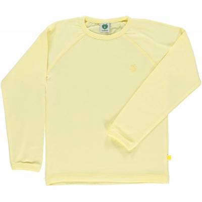 Småfolk - Økologisk Basis Langærmet T-Shirt - Lemonade - Børnetøj - Småfolk