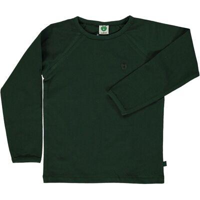 Småfolk - Økologisk Basis Langærmet T-Shirt - Bjerg Grøn - Børnetøj - Småfolk