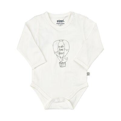 Pippi - Økologisk Body Solid m. Front Print - Børnetøj - Pippi