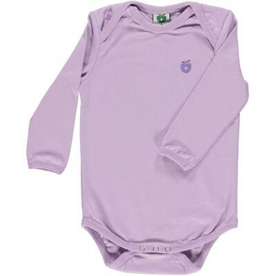 Småfolk - Økologisk Basis Langærmet Body - Lavendel - Børnetøj - Småfolk