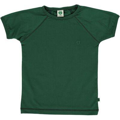 Småfolk - Økologisk Basis T-Shirt - Skovgrøn - Børnetøj - Småfolk