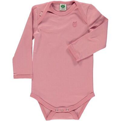 Småfolk - Økologisk Basis Langærmet Body - Blush - Børnetøj - Småfolk