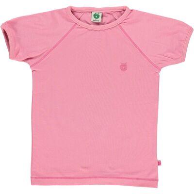 Småfolk - Økologisk Basis T-Shirt - Rose - Børnetøj - Småfolk