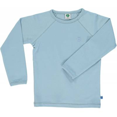 Småfolk - Økologisk Basis Langærmet T-Shirt - Sten Blå - Børnetøj - Småfolk