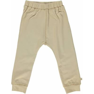 Småfolk - Økologisk Basis Jersey Bukser - M. Sand - Børnetøj - Småfolk
