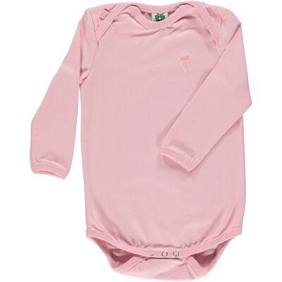 Småfolk - Økologisk Basis Langærmet Body - Sølv Pink - Børnetøj - Småfolk