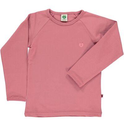 Småfolk - Økologisk Basis Langærmet T-Shirt - Mesa Rose - Børnetøj - Småfolk