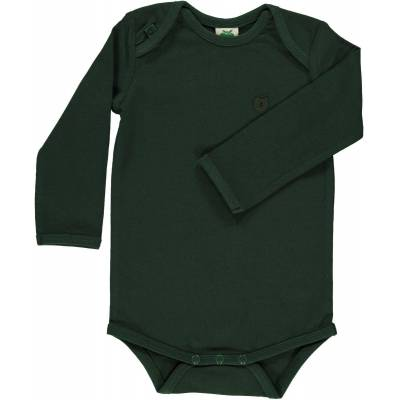 Småfolk - Økologisk Basis Langærmet Body - Bjerg Grøn - Børnetøj - Småfolk