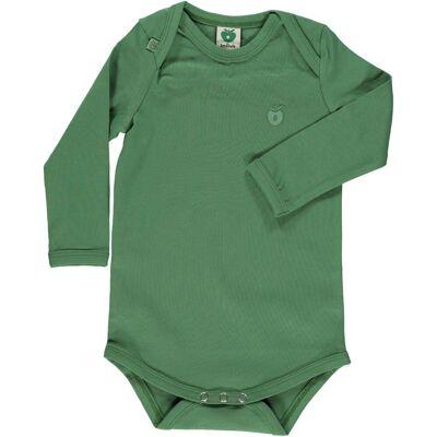 Småfolk - Økologisk Basis Langærmet Body - Elm Grøn - Børnetøj - Småfolk
