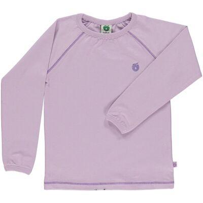 Småfolk - Økologisk Basis Langærmet T-Shirt - Lavendel - Børnetøj - Småfolk