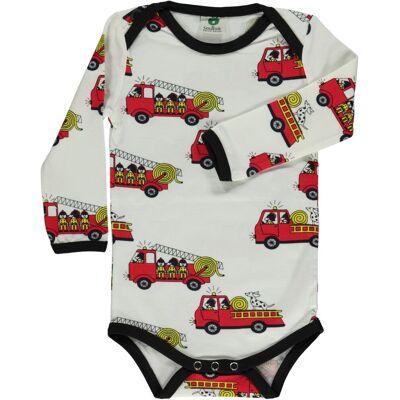 Småfolk - Økologisk Body m. Brandbil - Børnetøj - Småfolk