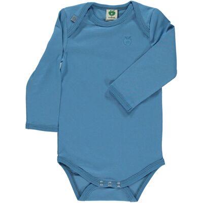 Småfolk - Økologisk Basis Langærmet Body - Cendre Blå - Børnetøj - Småfolk