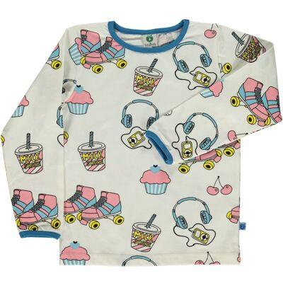 Småfolk - Økologisk Langærmet T-Shirt m. Skater Stuff - Børnetøj - Småfolk