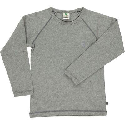 Småfolk - Økologisk Basis Langærmet T-Shirt - M. Grå Mix - Børnetøj - Småfolk