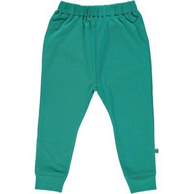 Småfolk - Økologisk Basis Jersey Pants - Agate Green - Børnetøj - Småfolk