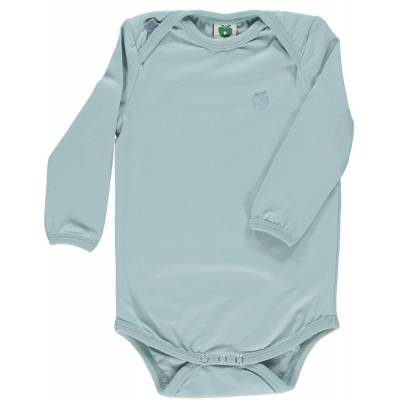 Småfolk - Økologisk Basis Langærmet Body - Ether - Børnetøj - Småfolk