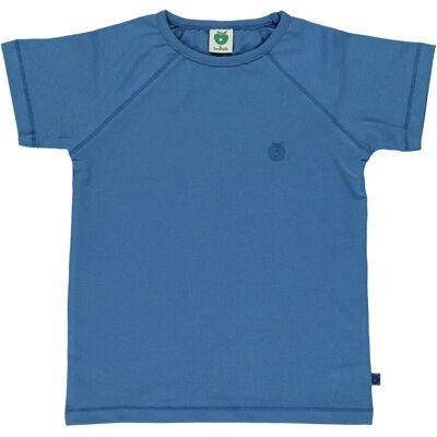 Småfolk Smålfolk - Økologisk Basis T-Shirt - M. Blå - Børnetøj - Småfolk