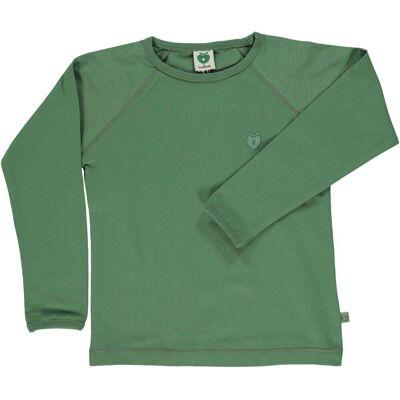 Småfolk - Økologisk Basis Langærmet T-Shirt - Elm Grøn - Børnetøj - Småfolk